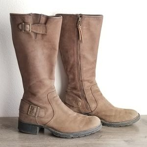 Timberland Zip Up Leather Knee High Boots